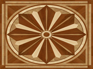 Maple, Oak, Cherry Medallion Inlay